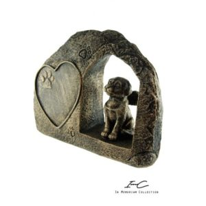 300743 - Angel Dog urn Bronze - 400cc