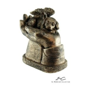 300746 - Angel Dog urn Bronze - 400 cc