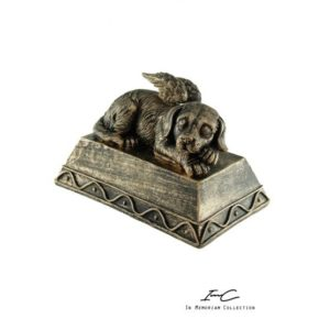 300744 - Angel Dog urn Bronze - 400 cc
