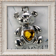 Birthstone Bear Ketting