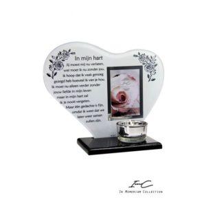 300651 - Waxinehouder Hart - In mijn hart