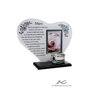 300658 - Waxinehouder In Memoriam - Hart Mam