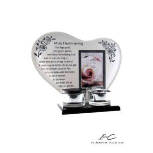 300670 - Waxinehart met mini urn - Mijn Herinnering