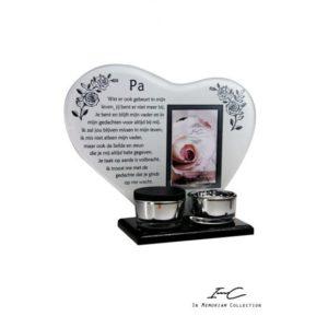 300671 - Waxinehart met mini urn - Pa