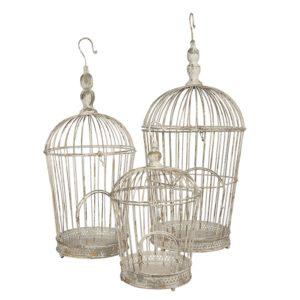 5Y0722 - Decoratie vogelkooi - set van 3