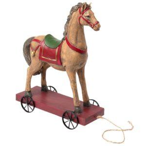 6PR1198 - Decoratie paard op wielen - 22*10*30 cm