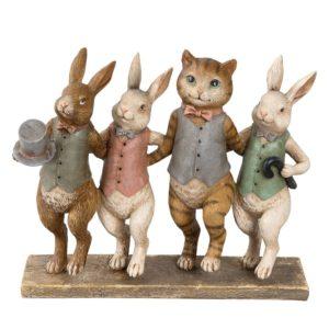 6PR2174 - Decoratie figuur dieren - 23*6*19 cm