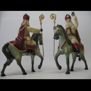 ALD5108 Sinterklaas op paard - Sint - 37 cm