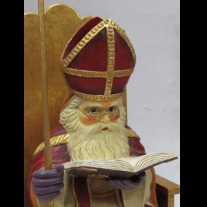 ALD5109 Sinterklaas op troon - Sint - 55 cm