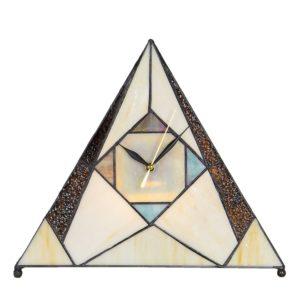 5LL-6075 - Tafelklok Lamp Tiffany - 30*12*26 cm