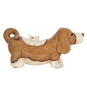 6CE1154 - Voorraadpot Hond - 37*14*18 cm