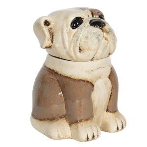 6CE1155 - Voorraadpot Hond - 20*18*26 cm