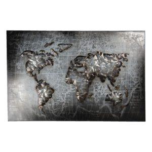 5WA0171 - Wanddecoratie wereldkaart - 120*5*80 cm