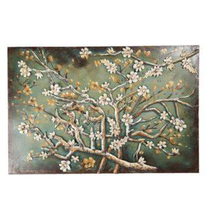5WA0172 - Wanddecoratie tak met bloesem - 120*5*80 cm