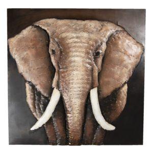 5WA0174 - Wanddecoratie olifant - 100*9*100 cm