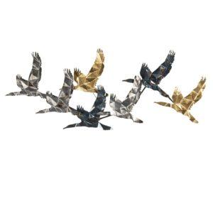 5Y0783 - Wanddecoratie vogels - 128*5*48 cm