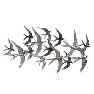 5Y0789 - Wanddecoratie vogels - 87*4*45 cm