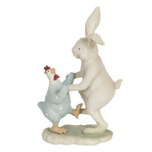 6PR3192  - Dansende konijn met kip - 12*7*19 cm