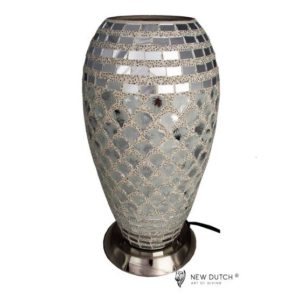 700802 - Mozaïek Glass Silver Lamp 27 cm