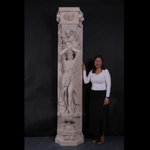 H-190155 Pilaster Roman Girl - Pilaar