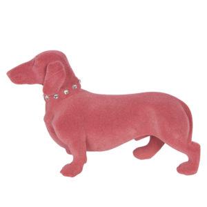 6FU0012P - Decoratie hond - teckel - 22*8*14 cm