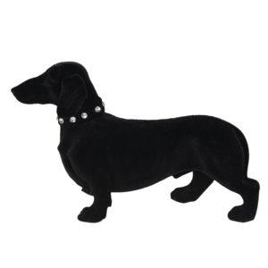 6FU0012Z - Decoratie hond - teckel - 22*8*14 cm