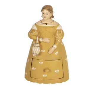6PR3107 - Decoratie vrouw - 13*11*20 cm