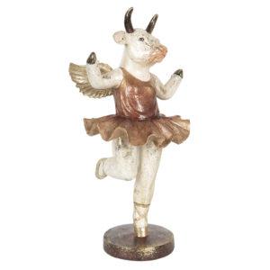 6PR3223 - Decoratie dansende koe - 17*16*34 cm