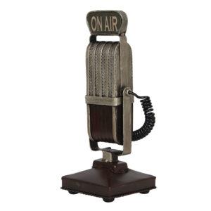 6Y4258 - Decoratieve model microfoon - 9*9*24 cm
