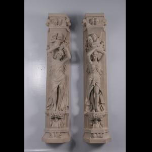 H-190154- Roman Girl Bowl Pilaster - Pilaar set 2